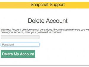 Snapchat Hesabı Nasıl Silinir